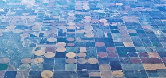 美轮美奂!美国圆形农田有如巨型眼影盘