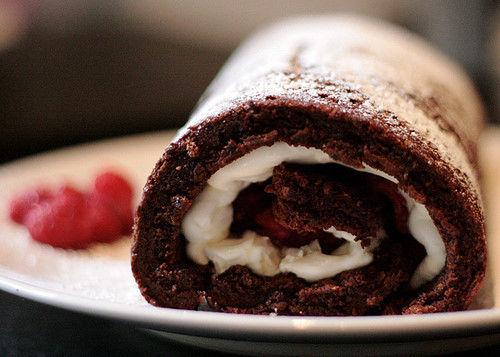 巧克力奶油卷