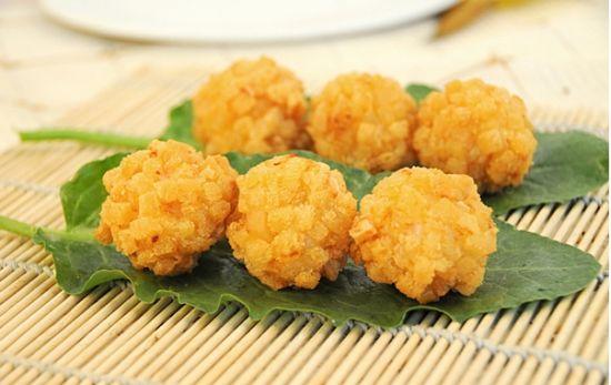 酸甜入味金黄芝士虾球