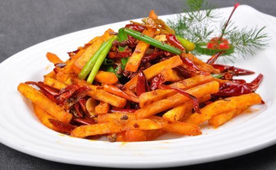 香辣干煸土豆条