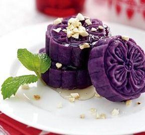 蜂蜜紫薯饼