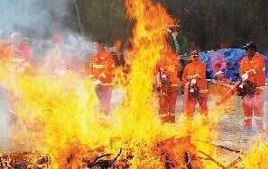 模拟山林防火应急演练